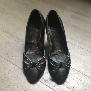 Barbara Bui black leather pumps